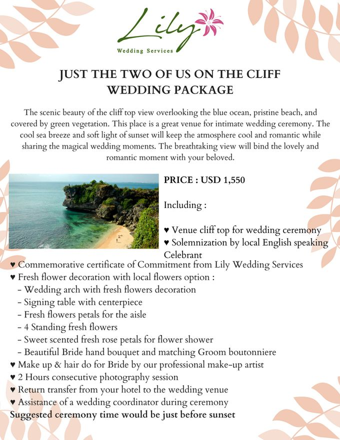 Our Wedding Packages by Lily Wedding Services - 004