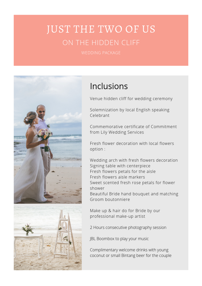 Our Wedding Packages by Lily Wedding Services - 003