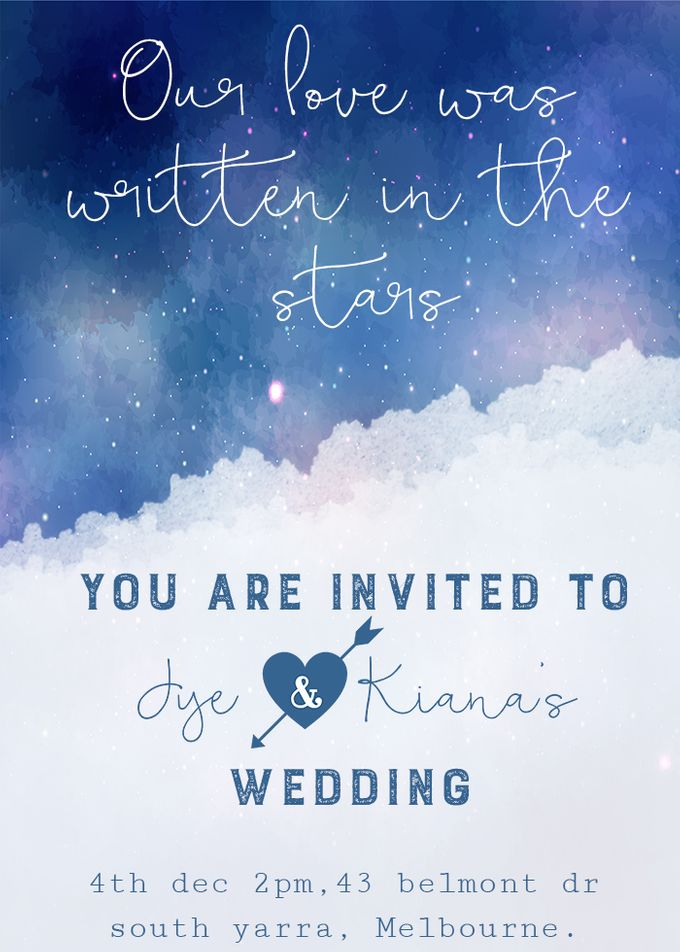 Starry love by She.Fox Invitations - 002