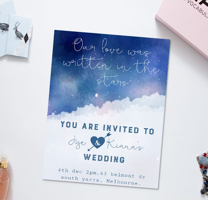 Starry love by She.Fox Invitations - 001