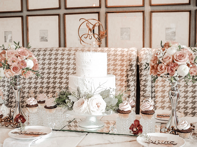 Madeline's Bridal Shower Cake and dessert table by KAIA Cakes & Co. - 002