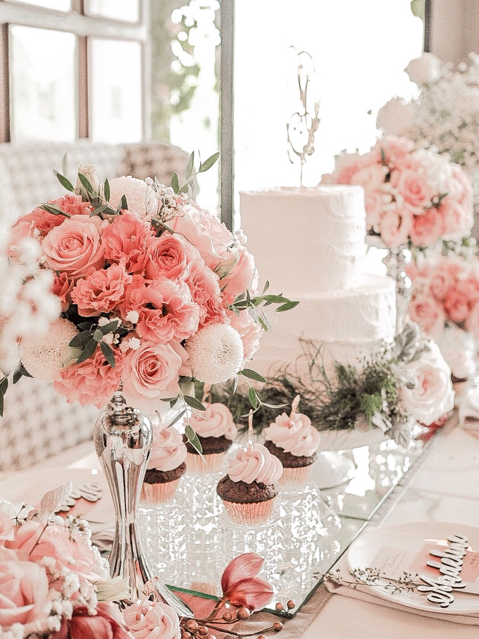 Madeline's Bridal Shower Cake and dessert table by KAIA Cakes & Co. - 009