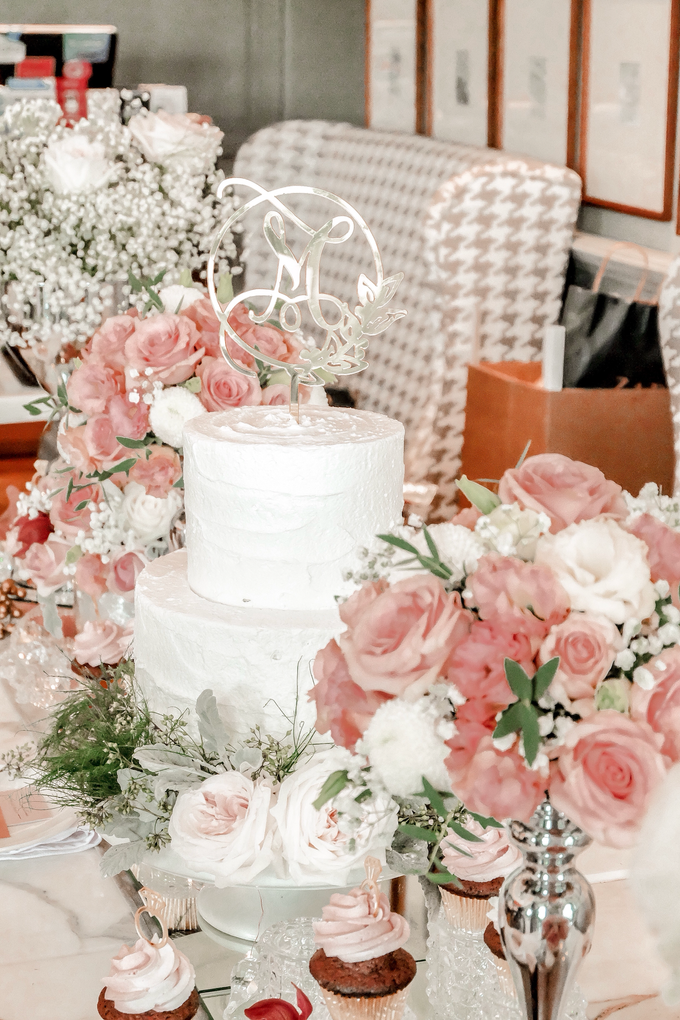 Madeline's Bridal Shower Cake and dessert table by KAIA Cakes & Co. - 017