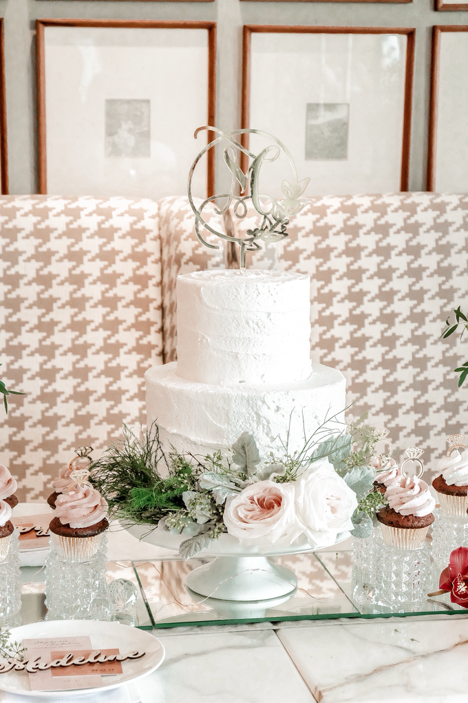 Madeline's Bridal Shower Cake and dessert table by KAIA Cakes & Co. - 021