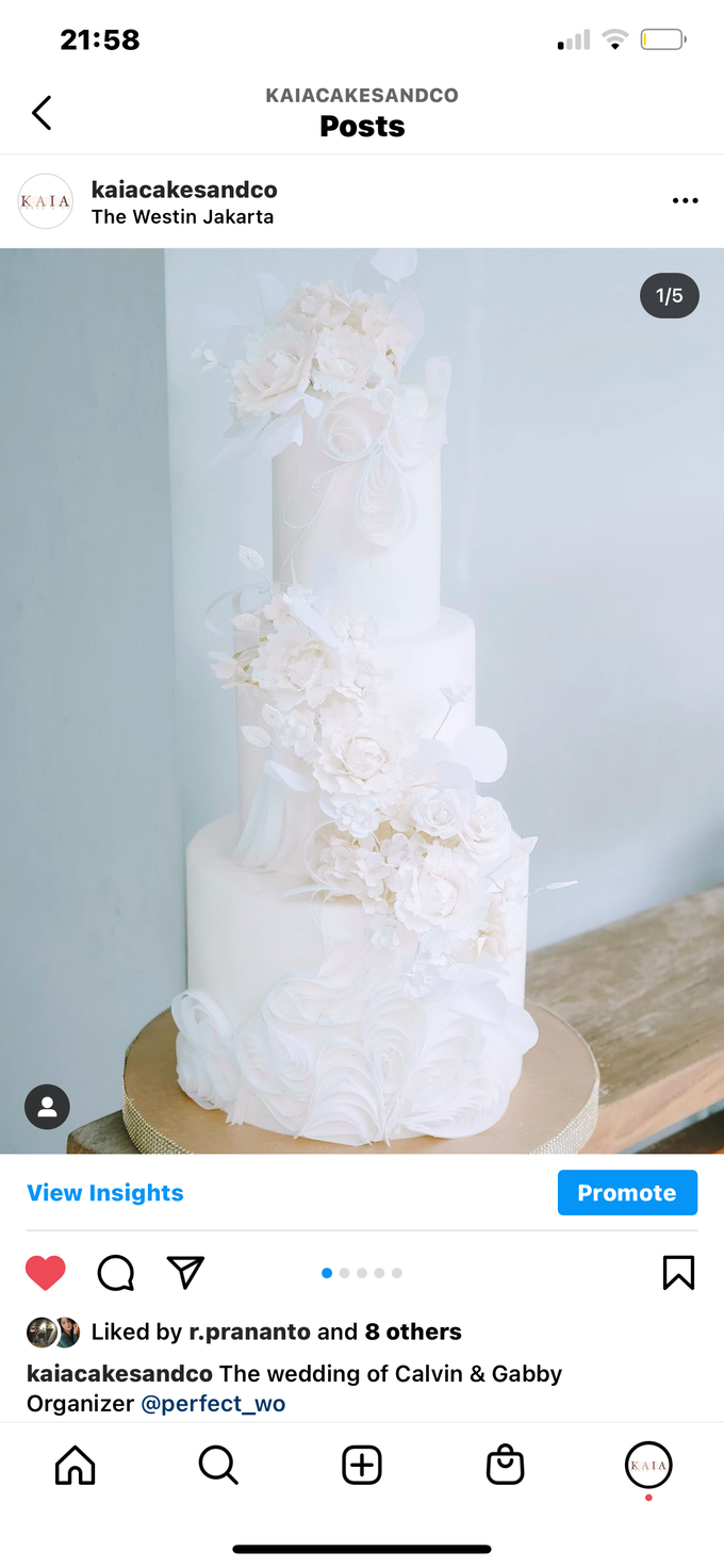 The wedding of Calvin & Gabby by KAIA Cakes & Co. - 006