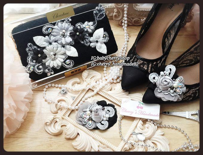 Elegant Clutch & Shoeclips Sets by Cherry's  Handmade - 001