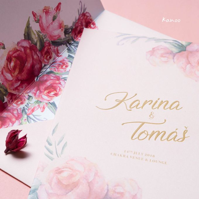 Wedding Invitation Pastel Pink by Kanoo Paper & Gift - 001