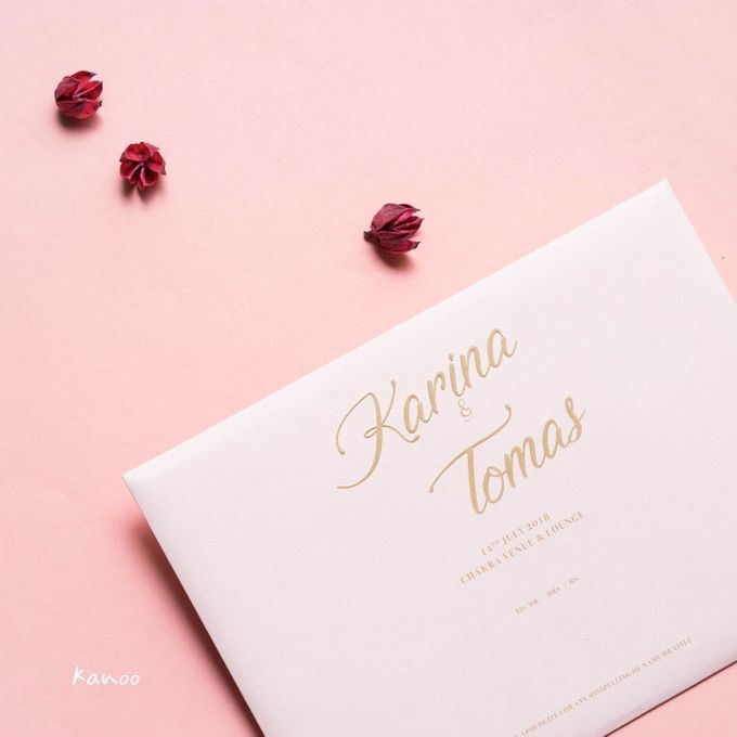 Wedding Invitation Pastel Pink by Kanoo Paper & Gift - 002