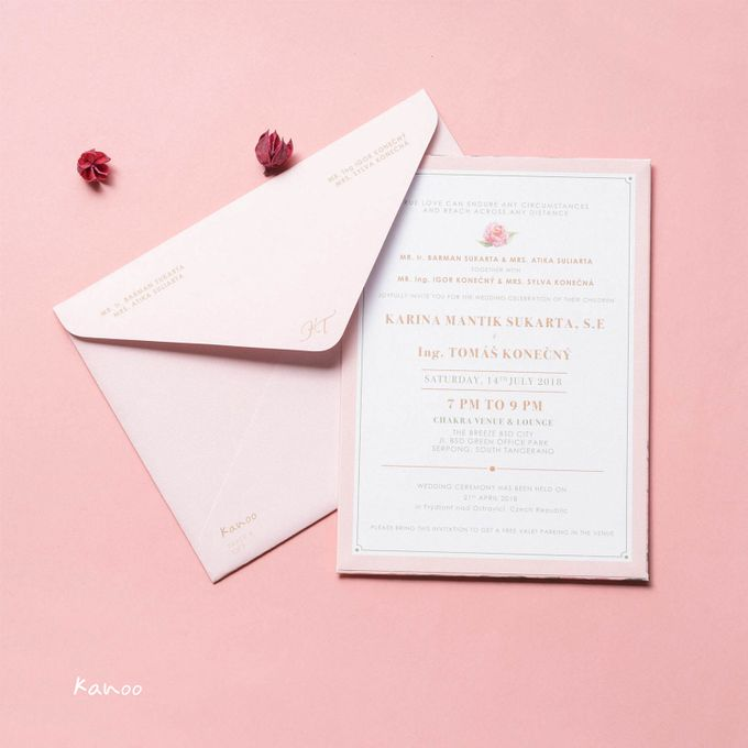 Wedding Invitation Pastel Pink by Kanoo Paper & Gift - 003