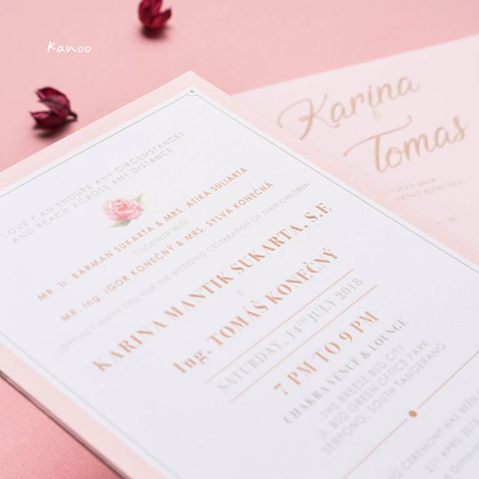 Wedding Invitation Pastel Pink by Kanoo Paper & Gift - 004