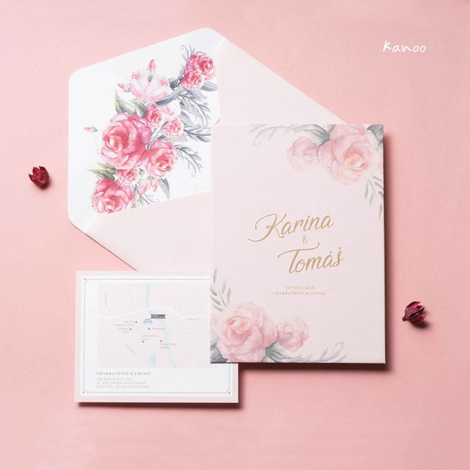 Wedding Invitation Pastel Pink by Kanoo Paper & Gift - 005