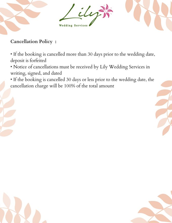 Our Wedding Packages by Lily Wedding Services - 014