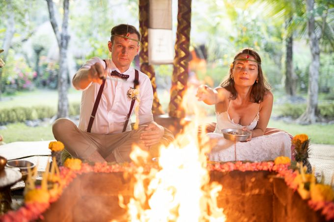 Agni Hotra Wedding Blessing Ceremony by Fivelements Bali Retreat - 006