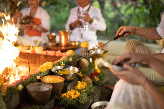 Agni Hotra Wedding Blessing Ceremony by Fivelements Bali Retreat - 007