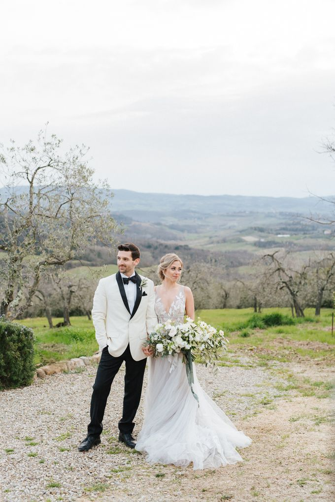Erica and Nick's wedding in Tuscany was shot during Lauren Fair and Julie Paisley workshop in Tuscany this spring. The theme of the wedding was white  by Katka Koncal - 033
