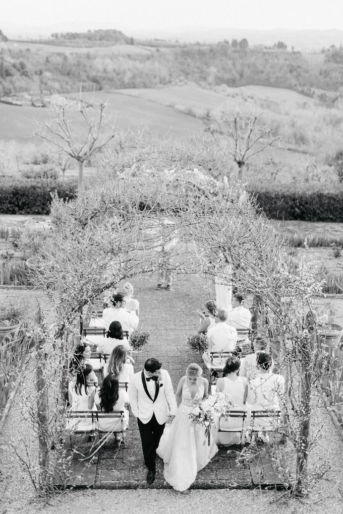 Erica and Nick's wedding in Tuscany was shot during Lauren Fair and Julie Paisley workshop in Tuscany this spring. The theme of the wedding was white  by Katka Koncal - 026