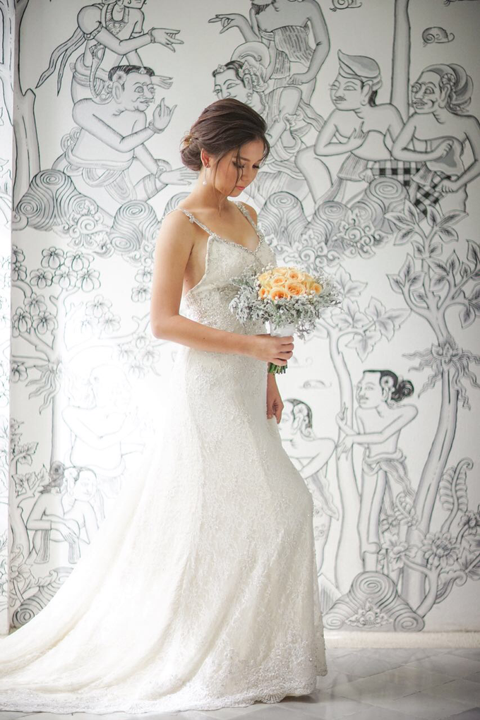 Custom gown  by Kings Bridal & Tailor - 001