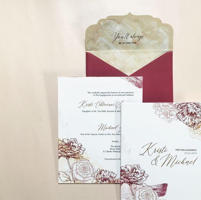 Kristi & Michael Engagement by Gracia The Invitation - 003