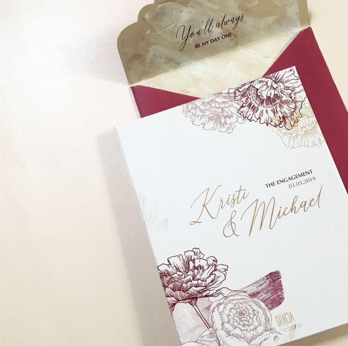 Kristi & Michael Engagement by Gracia The Invitation - 002