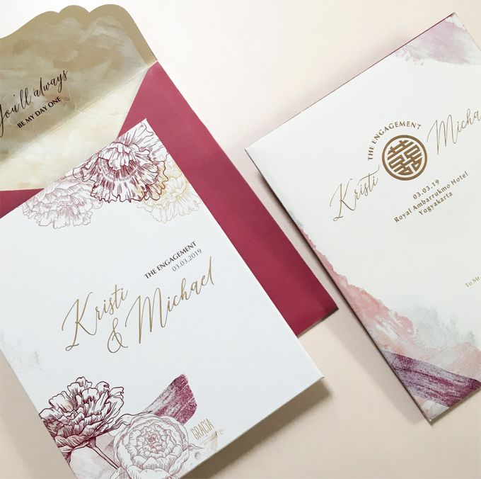 Kristi & Michael Engagement by Gracia The Invitation - 001