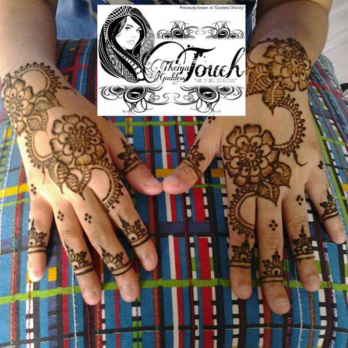 Henna Artwork Designing by Theiya Goddess Touch - 009