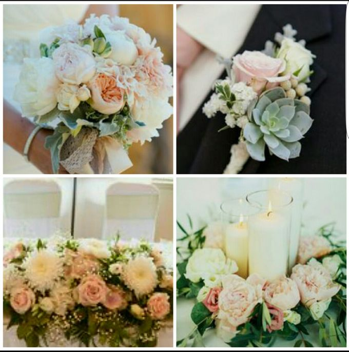 Champagne, Pink, Peach & Cream Theme by Dorcas Floral - 001