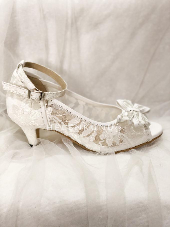 MILLY WHITE WEDDING HEELS by Helen Kunu by Kunu Looks - 002