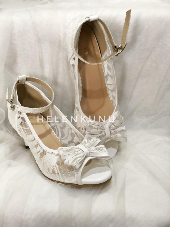 MILLY WHITE WEDDING HEELS by Helen Kunu by Kunu Looks - 003
