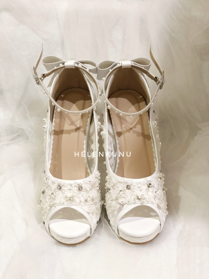 CLARA wedding white shoes by Helen Kunu by Kunu Looks - 002
