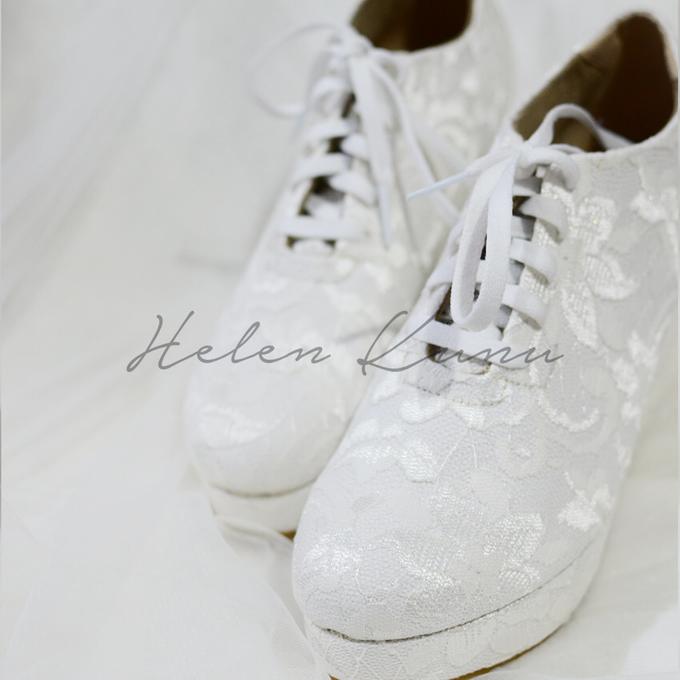 Wedges wedding shoes by Helen Kunu by Kunu Looks - 002