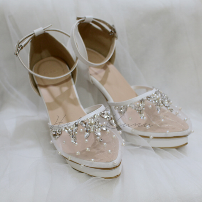 BIRDY WHITE WEDDING SHOES by Helen Kunu by Kunu Looks - 004