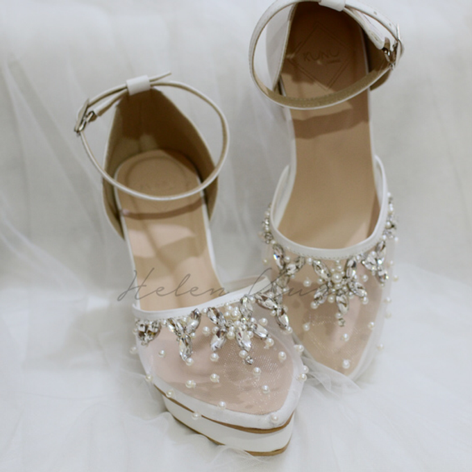 BIRDY WHITE WEDDING SHOES by Helen Kunu by Kunu Looks - 003