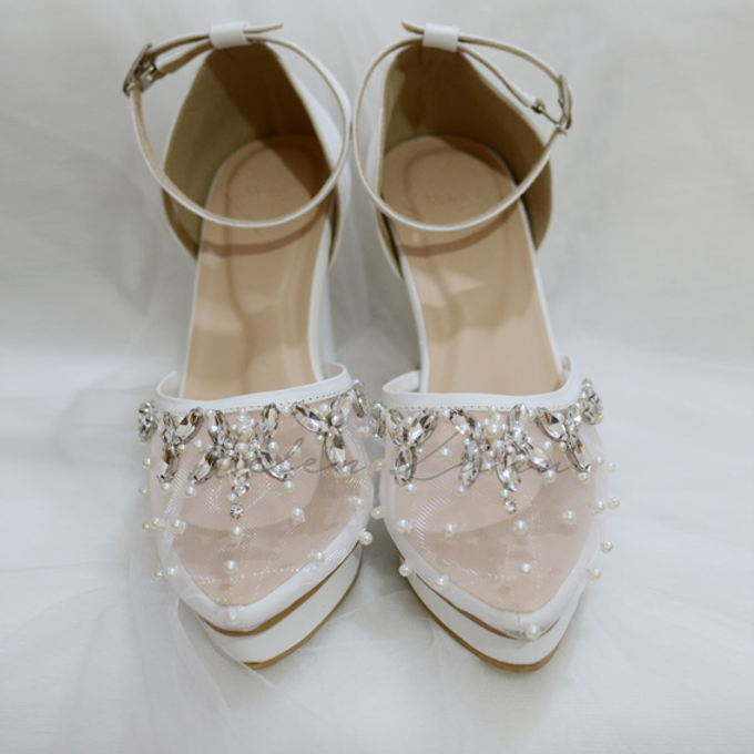 BIRDY WHITE WEDDING SHOES by Helen Kunu by Kunu Looks - 005