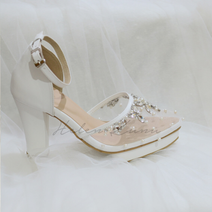 BIRDY WHITE WEDDING SHOES by Helen Kunu by Kunu Looks - 002