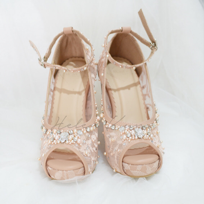 Audelia Cream wedding shoes by Helen Kunu by Kunu Looks - 005