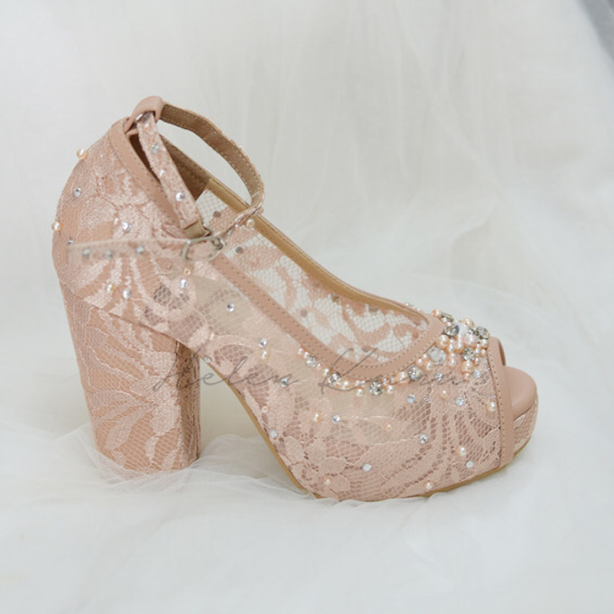 Audelia Cream wedding shoes by Helen Kunu by Kunu Looks - 004