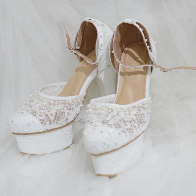 PRISKILA white Heels  by Helen Kunu by Kunu Looks - 001