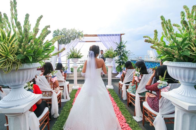 Wedding on a Rooftop at Kuta by KutaBex Beach Front Hotel Bali - 002