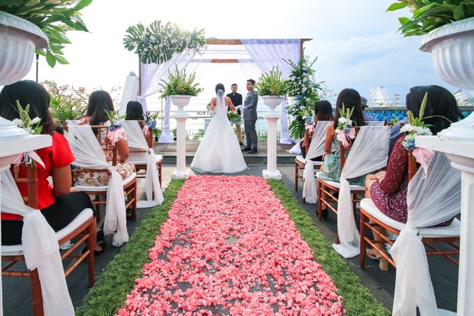 Wedding on a Rooftop at Kuta by KutaBex Beach Front Hotel Bali - 003
