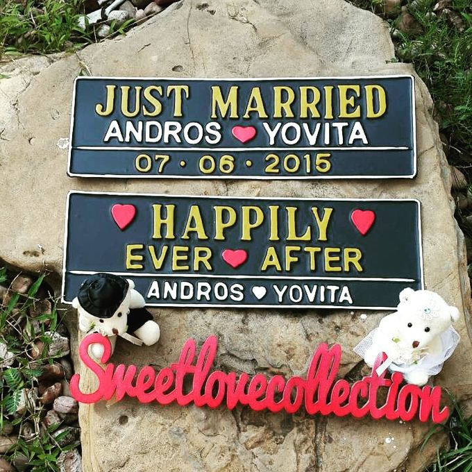 Wedding Car Plate by Sweetlovecollection - 047