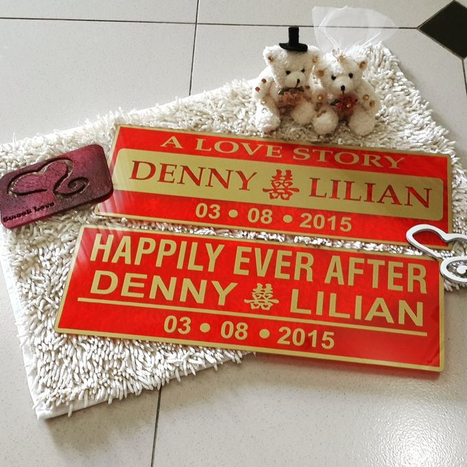 Wedding Car Plate by Sweetlovecollection - 049