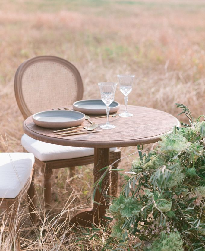 Louis Chairs and Bench Set by Le Scarlet Rental - 003