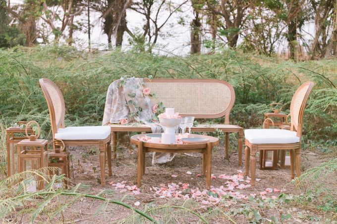Louis Chairs and Bench Set by Le Scarlet Rental - 019