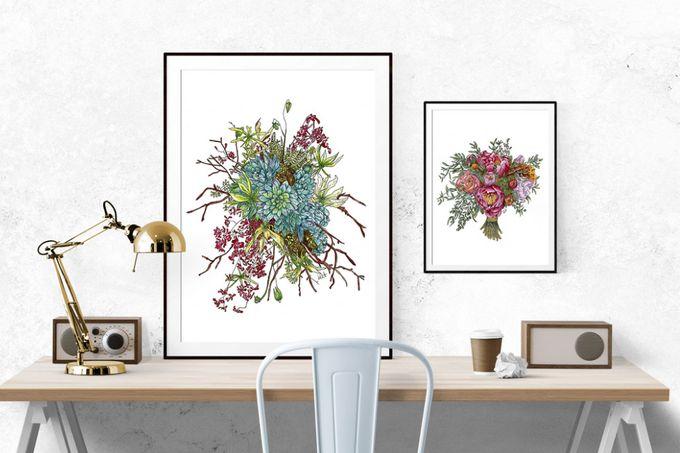Custom Bridal Bouquet Paintings  by Down Ellis Lane - Art By Dianne White - 002