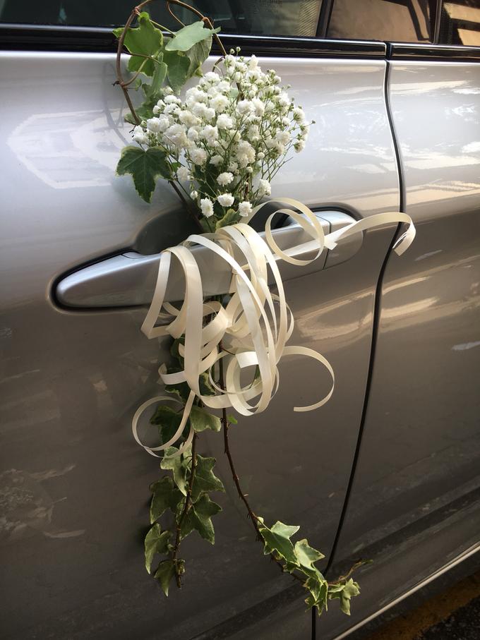 Bridal Car Decor  by La Fleur Société - 002