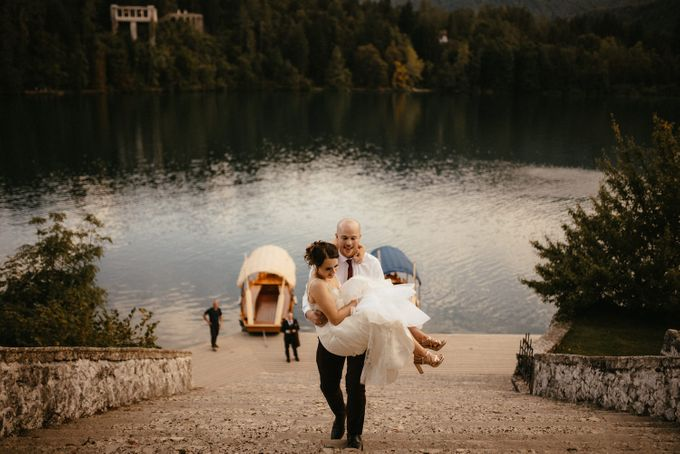 Amazing Fall Lake Bled Elopement by Lake Bled wedding planner Petra Starbek - 004