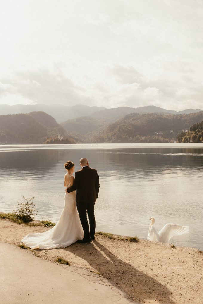 Amazing Fall Lake Bled Elopement by Lake Bled wedding planner Petra Starbek - 008