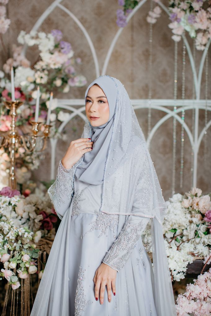 New Collection | Ice Gray Hijrah 01 by LAKSMI - Kebaya Muslimah & Islamic Bride - 002