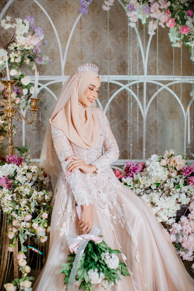 New Collection | Nude Sekar Fathiya by LAKSMI - Kebaya Muslimah & Islamic Bride - 001