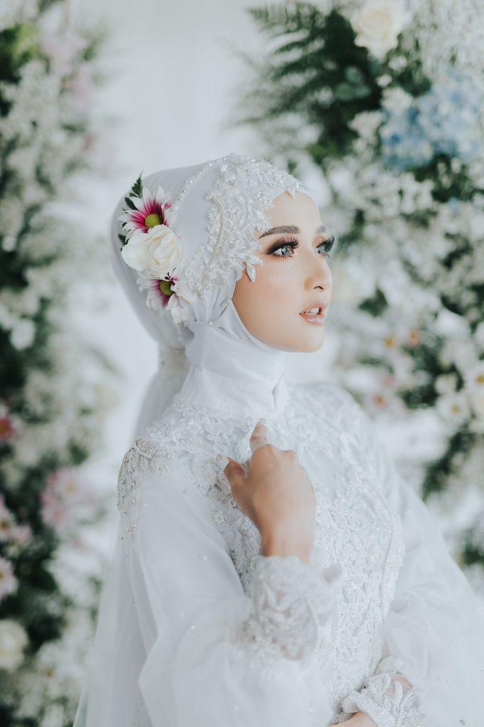 New Collection   White Sahaja Series by LAKSMI - Kebaya Muslimah & Islamic Bride - 001